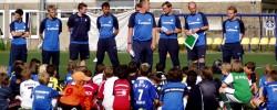 Suche nach jungen Fußball-Talenten.