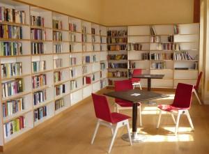 Das Lesezimmer im Prinz-Georg-Garten.