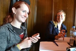 Anna Wittmershaus hat das Handy immer griffbreit