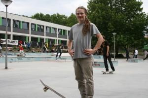 Er liebt den Sommer zum Skaten: David Heusel