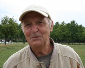 Rudolf Fuchs freut sich auf das Schachspielen im Herrengarten