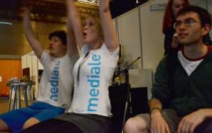 Enthusiasmus: Die Freude der Studenten über ihren Sieg war groß.