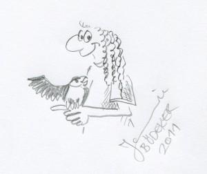 Zum Abschluss zeichnet die Graphikdesignerin für StraBaDa noch ein Selbstporträt mit Bleistift.